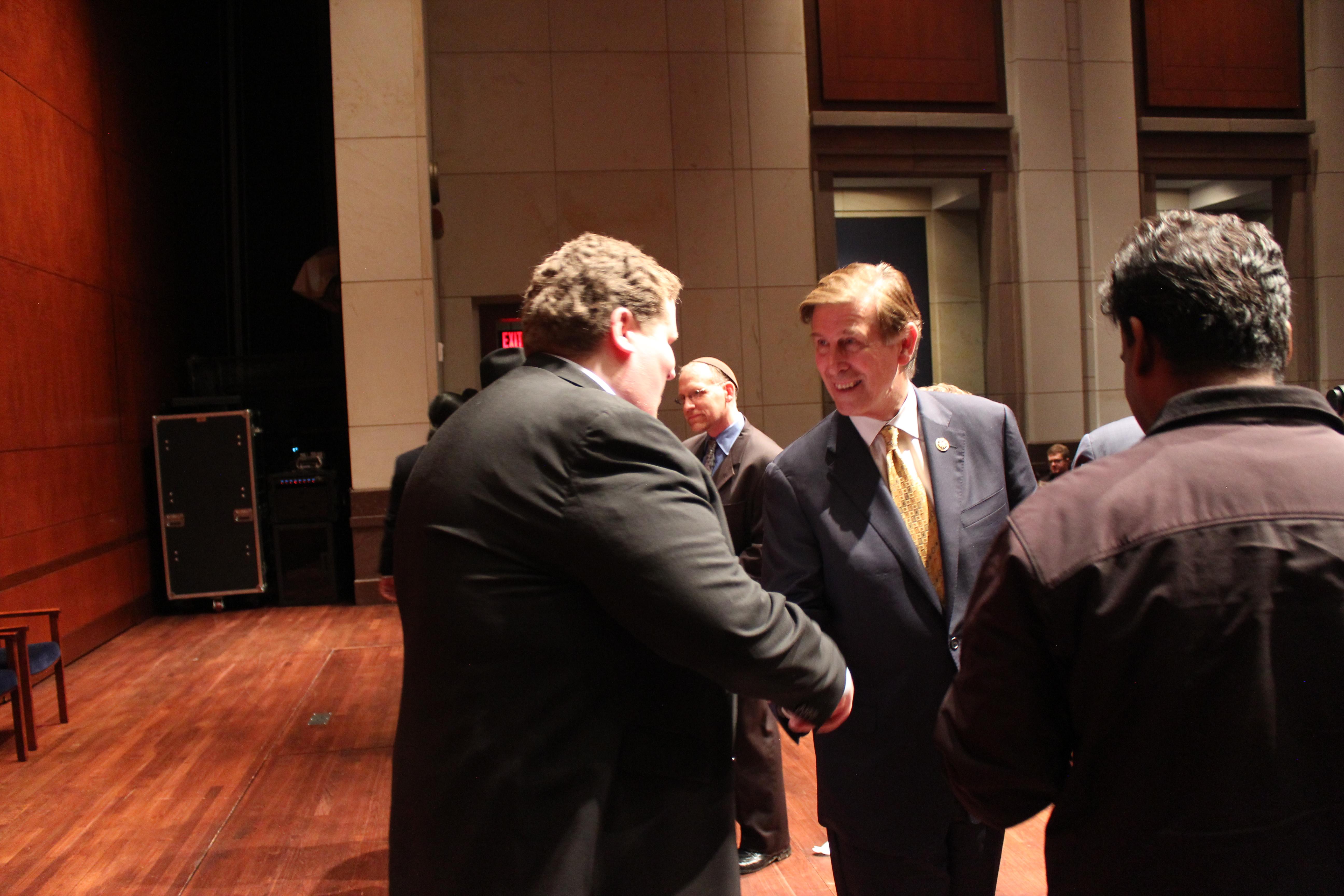 AHA Legislative Associate Matthew Bulger thanking Rep. Breyer sponsoring the legislation.